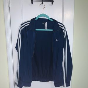 Navy blue adidas track jacket!!!